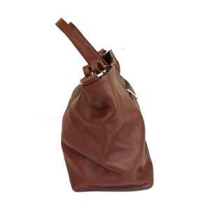 Ladies Lorella Italian Leather Bucket Handbag