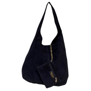 Ladies Monica Italian Suede Handbag