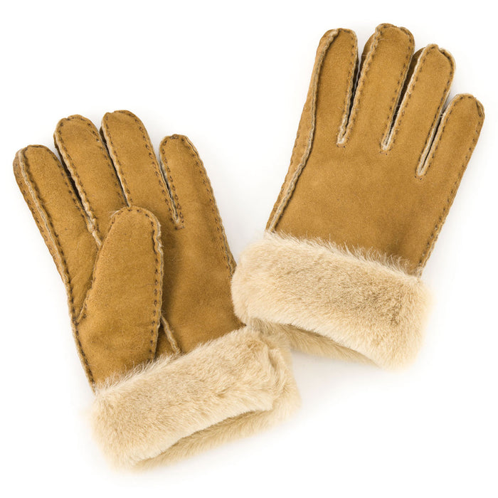 Ladies Sheepskin Glove with Cuff - Tan