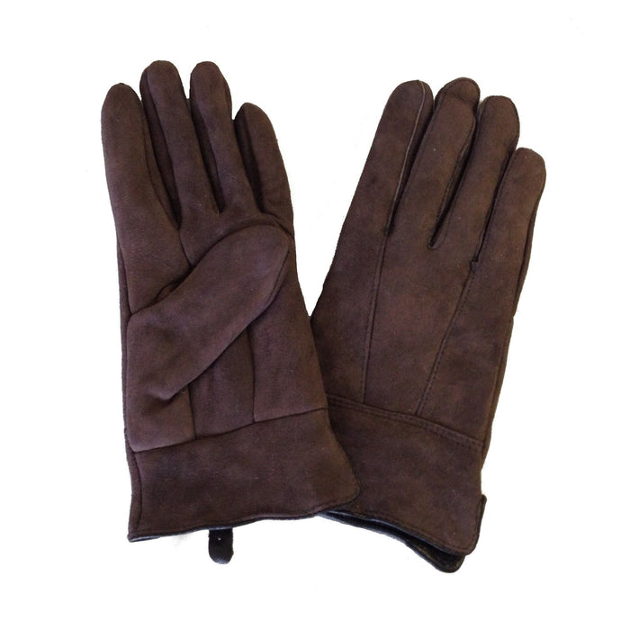 Ladies Sheepskin Gloves - Brown