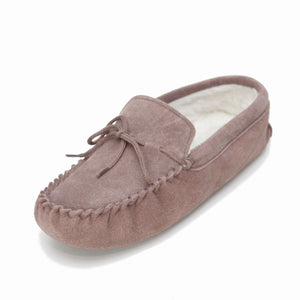 Ladies 'Taylor' Lambswool Moccasin with Soft Sole - Camel
