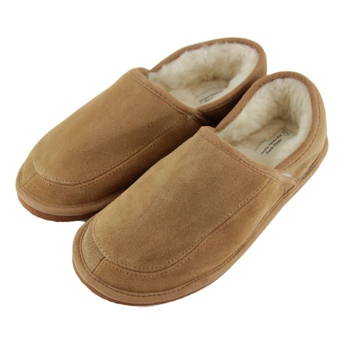 Men's 'Dominic' Lambswool Slippers - Camel