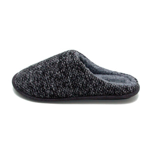 Men's 'Lerwick' Grey Knitted Slipper Mule