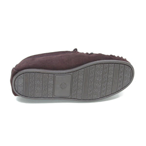 Men's 'Taylor' Lambswool Moccasin with Hard Sole - Brown