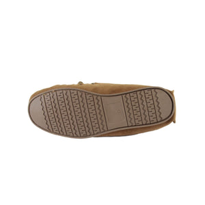 Men's 'Taylor' Lambswool Moccasin with Hard Sole - Tan