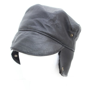 Mens Black Trapper Sheepskin Hat - Caxton Design