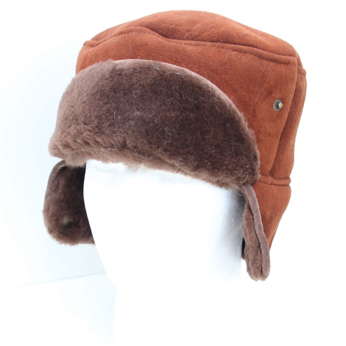 Mens Coffee Suede Trapper Hat - Caxton Design