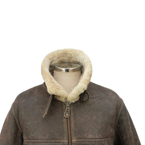 Mens Shaun Leather Sheepskin Jacket - Chocolate Forest