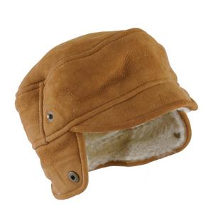 Mens Tan Suede Trapper Hat - Caxton Design