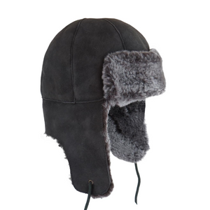 Mens Vizon Double Faced Sheepskin Aviator Hat - Bourn Style