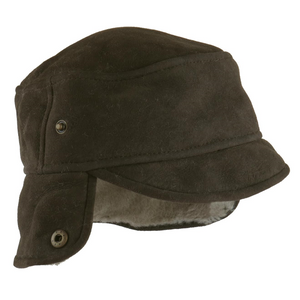 Mens Vizon Suede Trapper Hat - Caxton Design