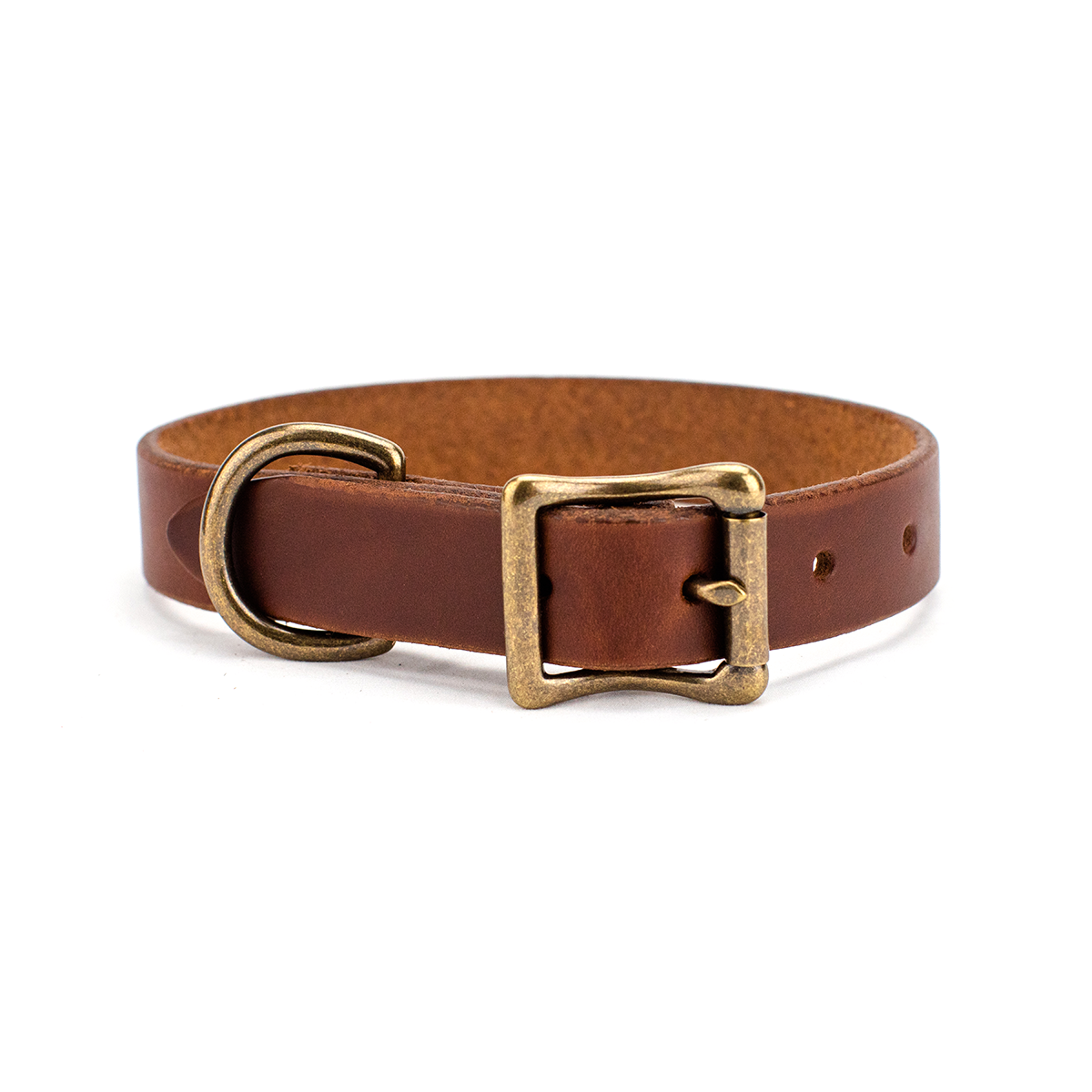 The Classic Leather Dog Collar Walnut
