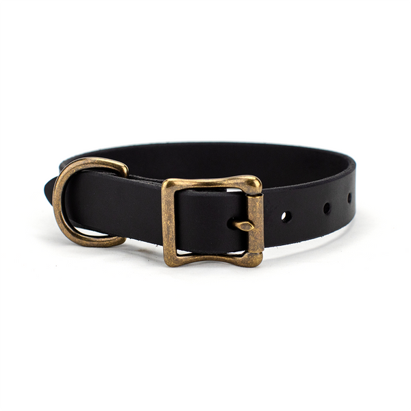 The Classic Leather Dog Collar Black