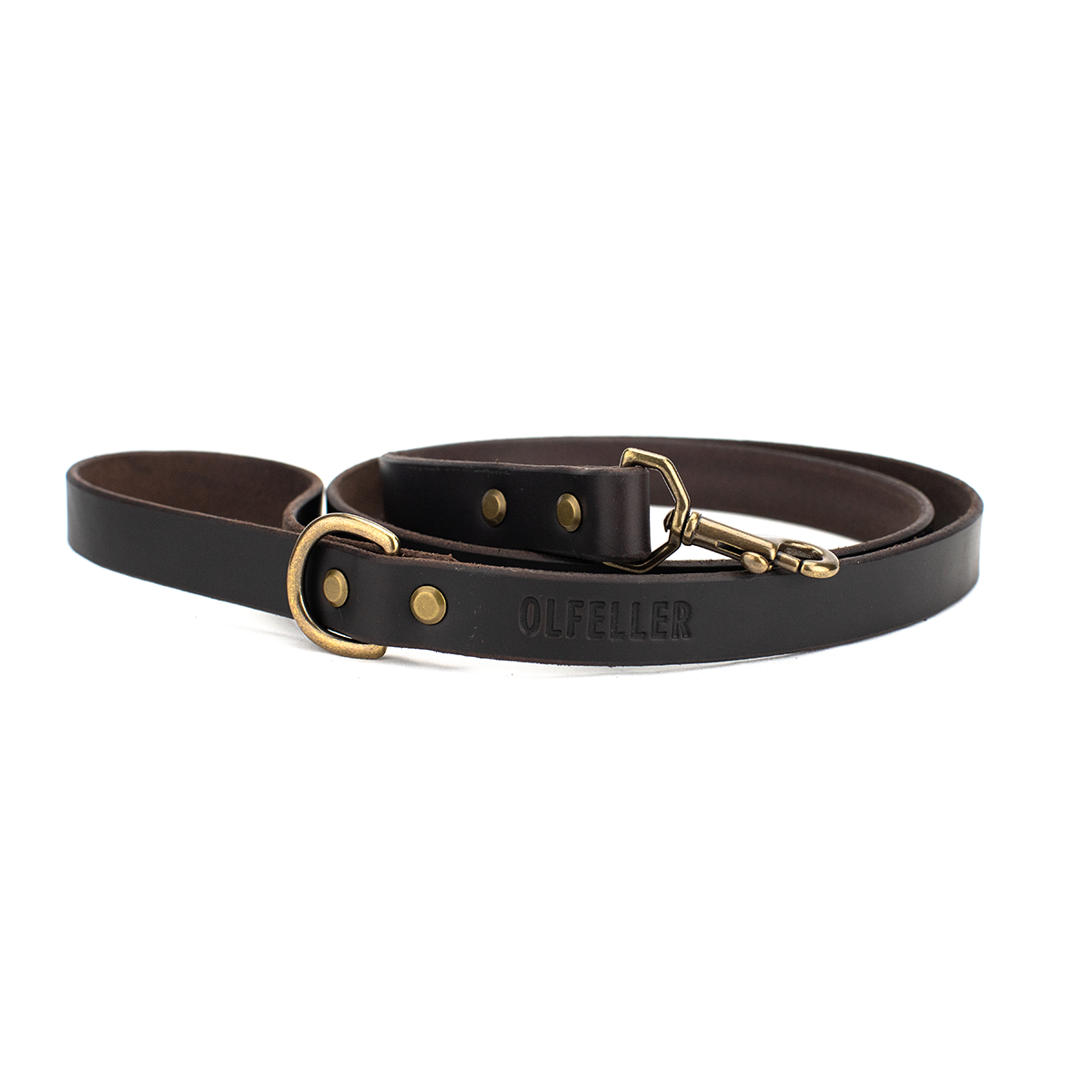 The Classic Leather Dog Leash Dark Chocolate