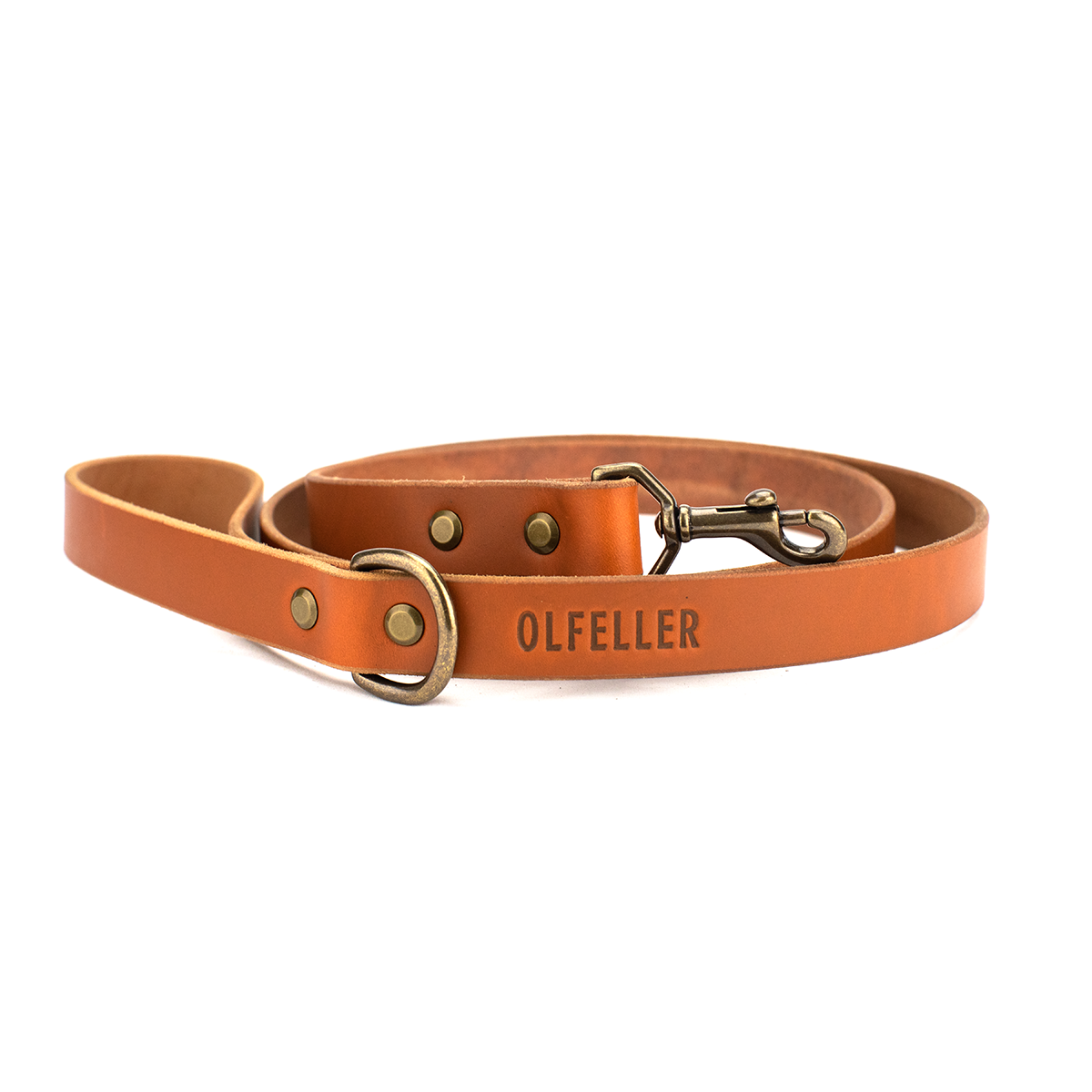 The Classic Leather Dog Leash Honey