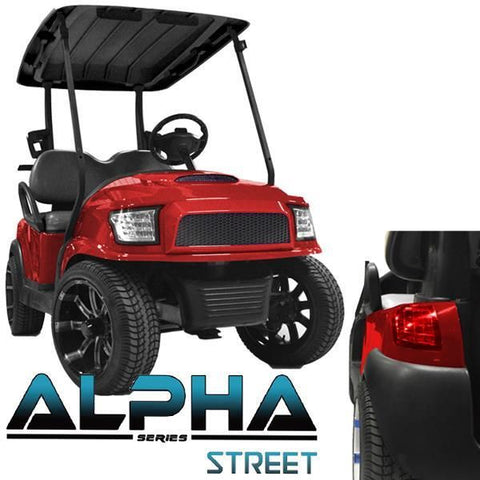 Club Car Precedent ALPHA Street Body Kit in Red (Fits 2004-Up)