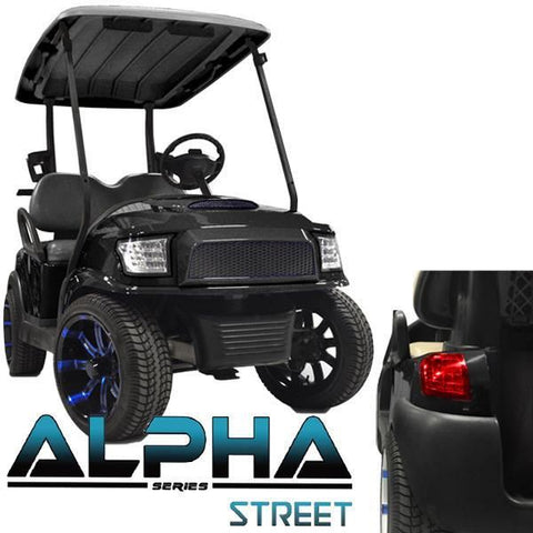 Club Car Precedent ALPHA Street Body Kit in Black (Fits 2004-Up)