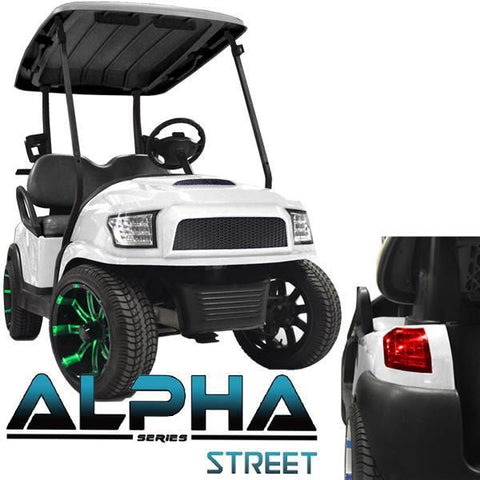 Club Car Precedent ALPHA Street Body Kit in White (Fits 2004-Up)