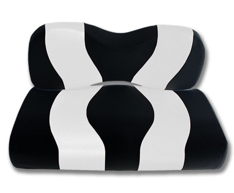 10-012-Golf-Cart-Two-Toned-Front-Seat-Cover-Black-White-no-cushion-for-Yamaha-Drive-cartguy-madjax-ontario-canada