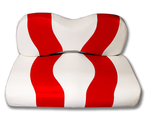 10-019-Golf-Cart-Two-Toned-Front-Seat-Cover-White-Red-no-cushion-for-yamaha-g29-Drive-cartguy-madjax-ontario-canada