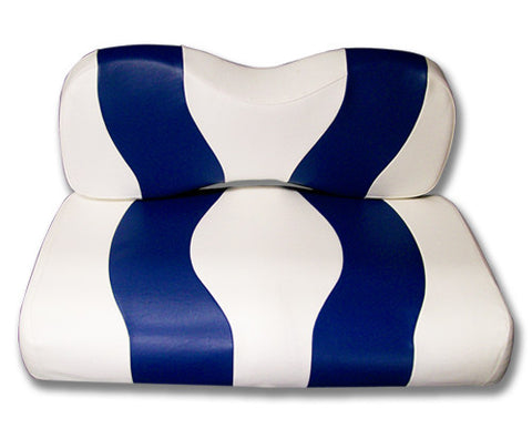 10-026-Golf-Cart-Two-Toned-Front-Seat-Cover-White-Blue-no-cushion-for-Yamaha-Drive-cartguy-madjax-ontario-canada
