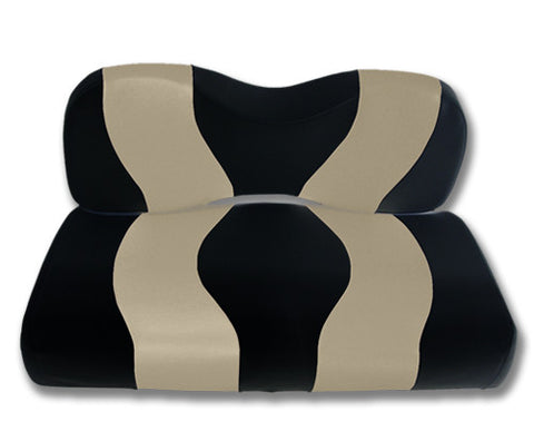 10-047-Golf-Cart-Two-Toned-Front-Seat-Cover-Black-Tan-no-cushion-for-yamaha-Drive-cartguy-madjax-ontario-canada