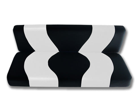 10-052-Golf-Cart-Two-Toned-Rear-Seat-Cover-Black-White-no-cushion-for-Club-Car-DS-cartguy-madjax-ontario-canada