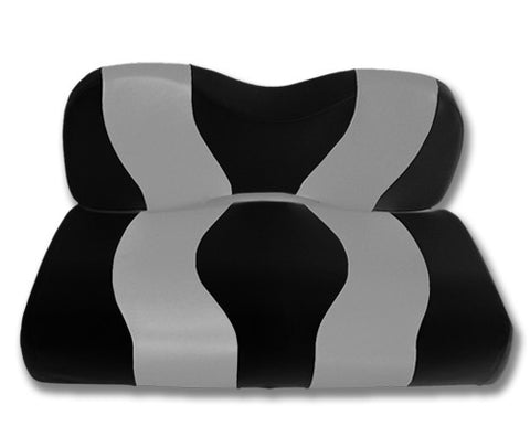 10-095-Golf-Cart-Two-Toned-Front-Seat-Cover-Black-Silver-no-cushion-for-Yamaha-Drive-cartguy-madjax-ontario-canada