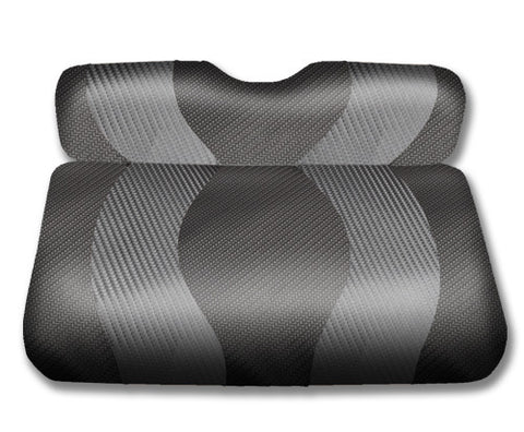 10-100-Golf-Cart-Two-Toned-Front-Seat-Cover-Carbon-Fiber-no-cushion-for-Ezgo-TXT-cartguy-madjax-ontario-canada