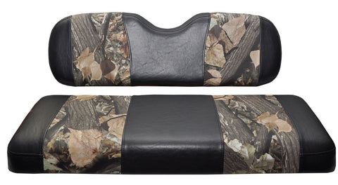 Seat Cover, front - Black & Camo EZGO TXT