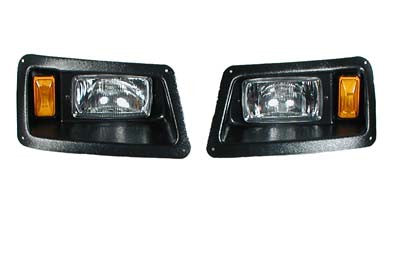 10985 Head Lights with Bezels Vertically Adjustable - Yamaha Gas & Electric G14 to G22 1995 & Up