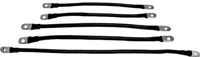 1254 Battery Cable Set 6 Gauge - Ezgo Electric 1986 1/2 to 1994