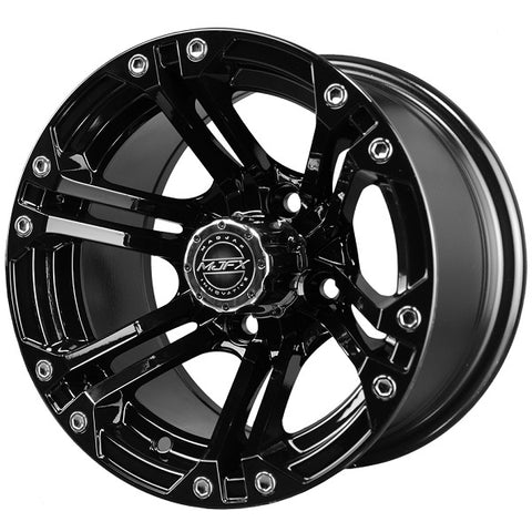 Golf Cart Wheel NITRO 12 x 7 Black.