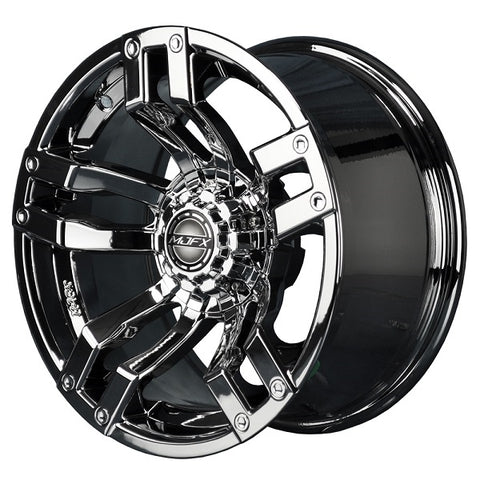 Golf Cart Rim Velocity 12 x 7 Wheel Chrome.