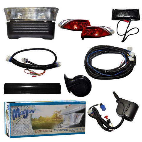 Madjax Complete Ultimate Light Kit with Frosted Lens – Fits Club Car Precedent