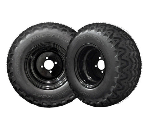 20-007-Golf-Cart-Aluminum-10-inch-Rim-Black-Steel-with-All-Terrain-predator-tire-cartguy-madjax-ontario-canada-