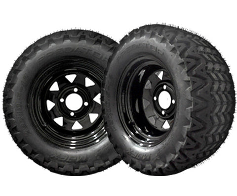 20-008-Golf-Cart-12-inch-x-8-inch-Black-Steel-Wheel-with-All-Terrain-Predator-Tire-23-x-10.5-12-cartguy-madjax-ontario-canada