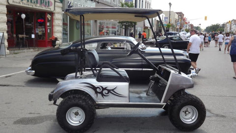 2001-Club-Car-Gas-Golf-Cart-Voodoo-Air-Paint-Tribal-High-Quality-Jake-Lift-Kit-All-terrain-tires-custom-roof-cartguy.ca-2