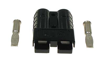 27815-G02 Plug Black SB50 with 6 Gauge Contacts - Ezgo Electric 1983 to 1995