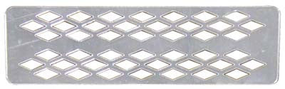 28326 Acrylic Mirrored Grille Cover, Diamond Plate Pattern - Ezgo