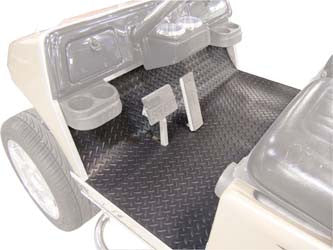 28732 Diamond Plate Rubber Floor Mat, Black - Club Car Precedent