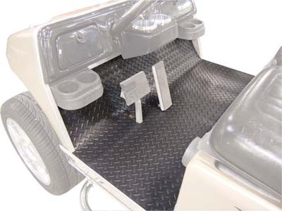 28733 Diamond Plate Rubber Floor Mat, Grey - Club Car Precedent