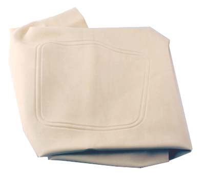 2968 Seat Bottom Covers, White - Club Car Precedent