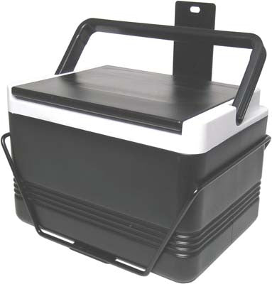 12 QT. BLACK COOLER & BRACKET, EZGO RXV DRIVERS SIDE