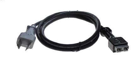 3619 2 Prong Gray Molded DC Cord - Club Car Electric Charger
