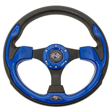 "12.5"" Rally Style Blue Steering Wheel"