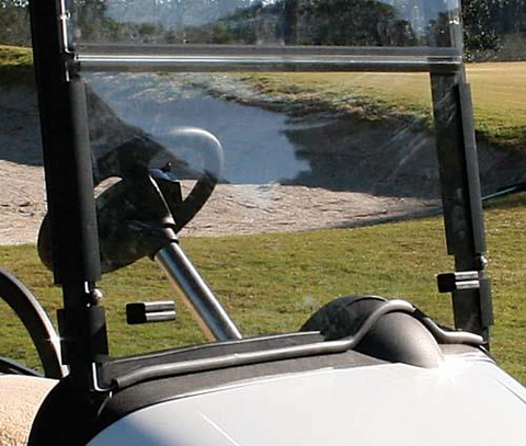 Tinted Hinged Windshield with Rubber Trim - Ezgo RXV.