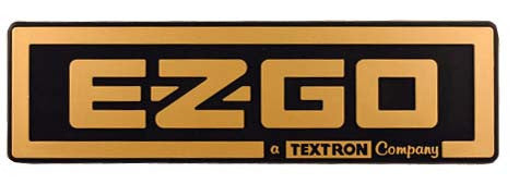 71037-G02 Name Plate - Golf & Black - Ezgo Gas & Electric 1988 to 2002