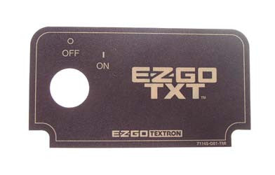 71145-G01 Key Switch Decal - Ezgo TXT 1994 & Up