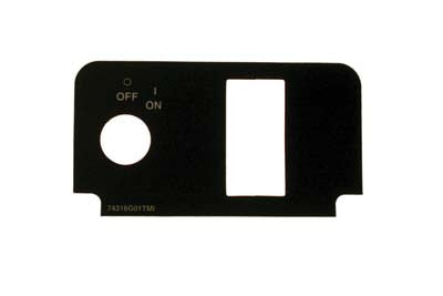 74316-G01 Label Console Plate with Keyswitch - Ezgo TXT 2000 & Up